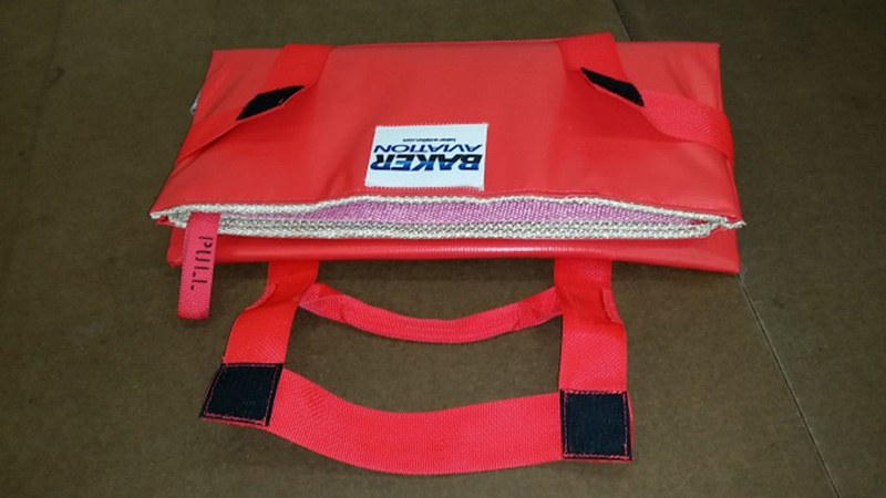 open red HOT-STOP L fire containment bag
